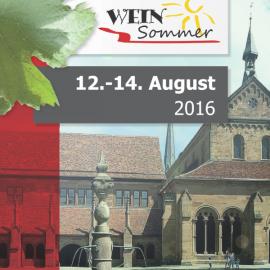 Weinsommer Maulbronn vom 12. bis 14. August 2016