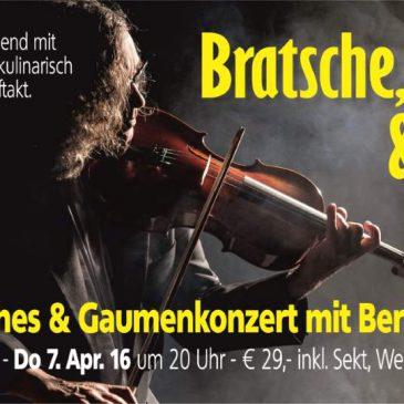 Cineastisches & Gaumenkonzert mit Bertram Haak