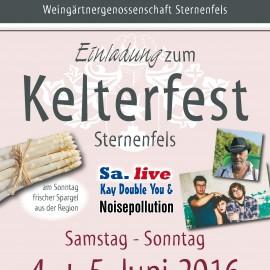 Fete, Königliche Hoheiten, Spargel und ein Viertele: am 04. und 5. Juni Kelterfest