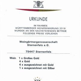 Württemberger Weinprämierung 2018