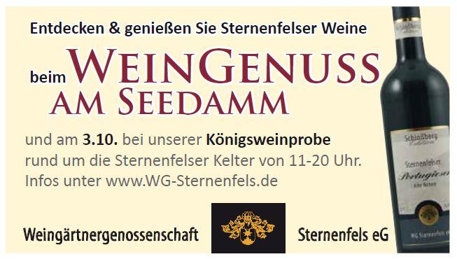"""""""Kunst und Genuss"""" in Bretten vom 24.-26. Sept. – Königsweinprobe an der Kelter am 3.10.2021"""